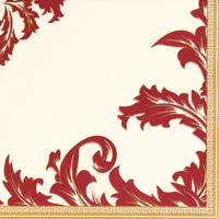 LUXURY  champagner-bordeaux 40x40/12 Airlaid, Home Fashion