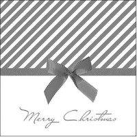CHRISTMAS BOW silver, Ambiente