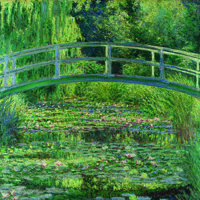 THE WATER-LILY POND, Ambiente