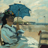 BEACH AT TROUVILLE, Ambiente