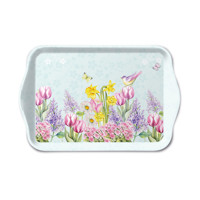 Podnos BLOOMING GARDEN turquoise  13x21, Ambiente
