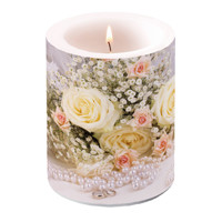 candles big ROSES AND PEARLS, Ambiente