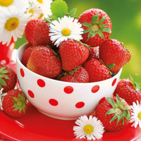 Servítky STRAWBERRIES IN BOWL  25x25, Ambiente