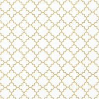 QUATTREFOIL LATTICE FINE gold, TI-FLAIR