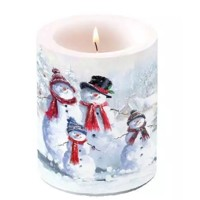 Candle SNOWMAN WITH HAT, Ambiente
