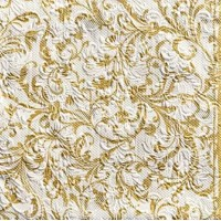 Elegance Damask white-gold 33x33, Ambiente