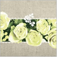 LOVELY ROSES gelb 40x40 Linclass, Mank