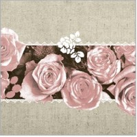 LOVELY ROSES rosa 40x40 Linclass, Mank